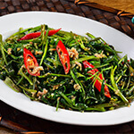 Top Melaka Nancy's Kitchen Nyonya Food - Kangkung Goreng Cincaluk (Water Spinach Fried Fermented Shrimp)