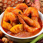 Top Melaka Nancy's Kitchen Nyonya Food - Udang Assam Nenas (Prawn with in Tamarind Sauce)